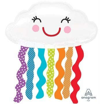 Шар 80 см Фигура Облако с дождиком улыбчивое