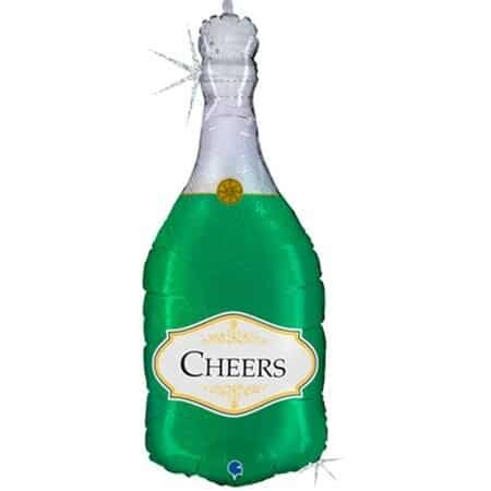 Шар 91 см Фигура Бутылка Шампанского Голография