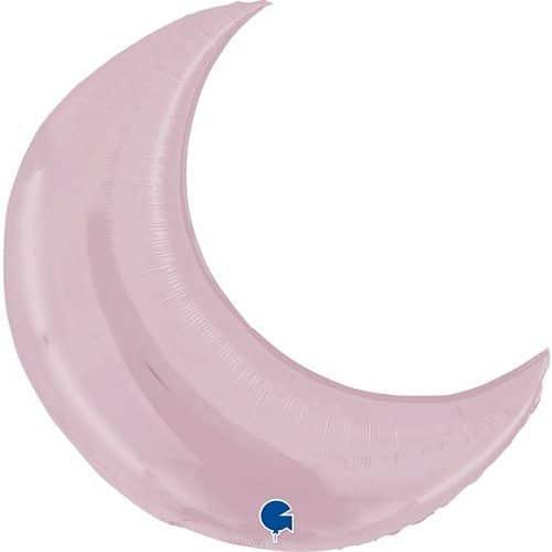 Шар 91 см Фигура Полумесяц Светло-розовый