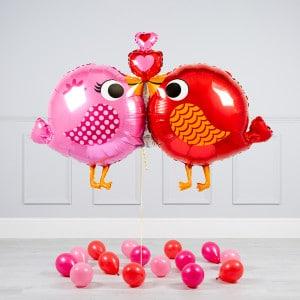Комплект из воздушных шаров Влюбленные птички и шары на пол