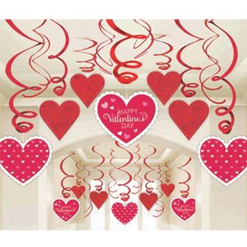 Спираль Валентинов день 46-60 см 30 штук