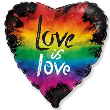 Шар 46 см Сердце Любовь это любовь