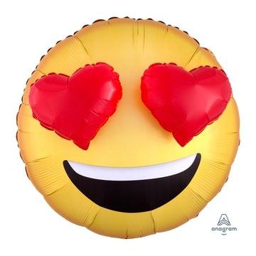 Шар 71 см Фигура 3D Эмоции Смайлик Сердца
