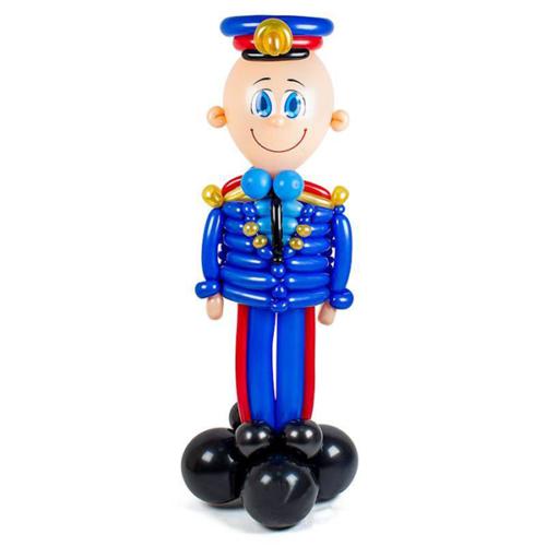 ГИБДД сотрудник в синей форме из воздушных шаров