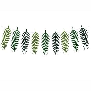 Гирлянда Листья тропические зеленые 1,25 м