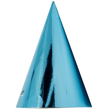Колпак фольга голубой 6 штук