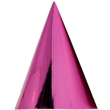 Колпак фольга розовый 6 штук
