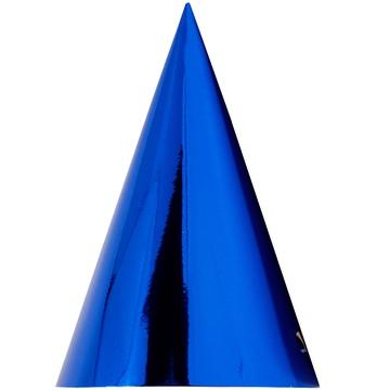 Колпак фольга синий 6 штук