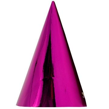 Колпак фольга ярко-розовый 6 штук