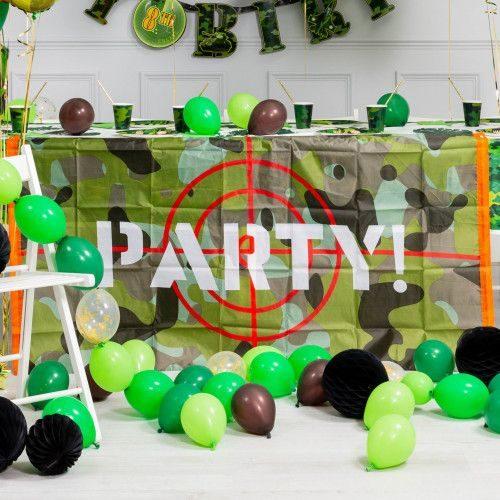 Комплект из шаров Гирлянда простая Хаки 3 метра и шары на пол