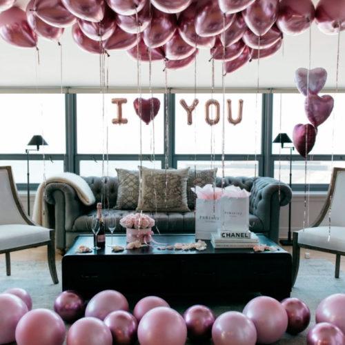 Комплект шаров для подарка Я тебя люблю