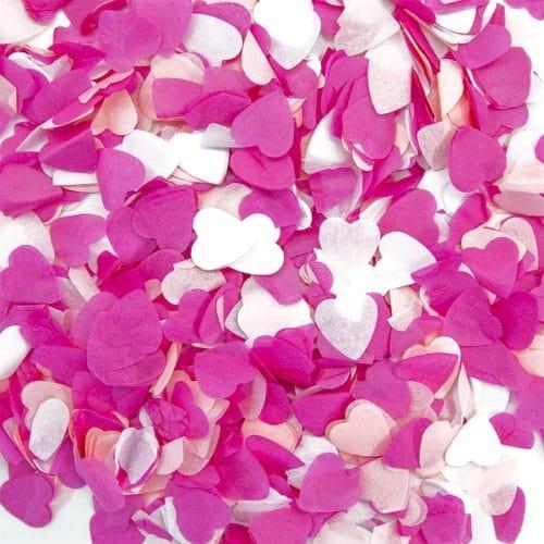 Конфетти тишью Сердце Розовый микс 50 грамм