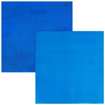 Салфетка 33 см фольга синяя 6 штук