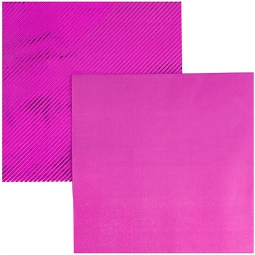 Салфетка 33 см фольга ярко-розовая 6 штук