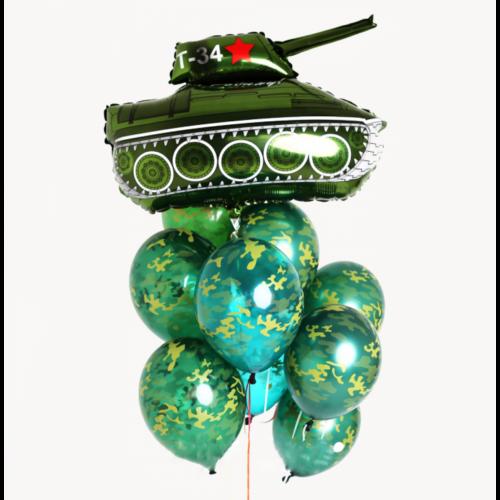 Связка из шаров Милитари и Танк