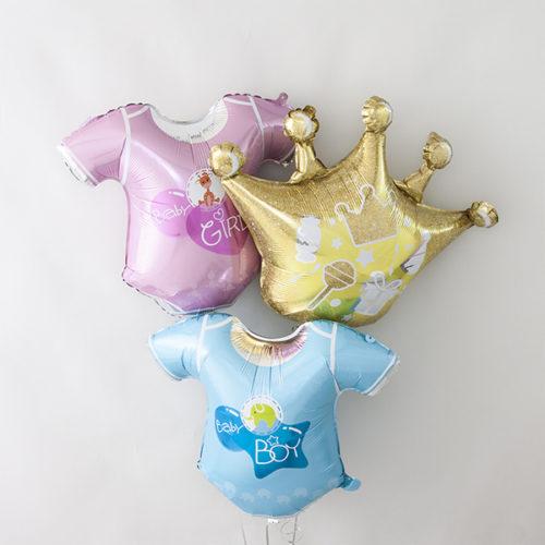 Связка шаров из шаров Девочка или Мальчик с короной