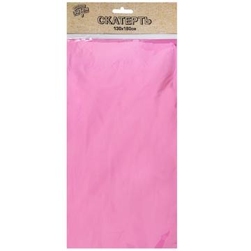 Скатерть фольга розовая 130 х 180 см