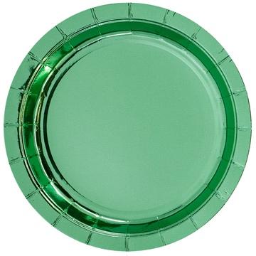 Тарелка 17 см фольга мятная 6 штук