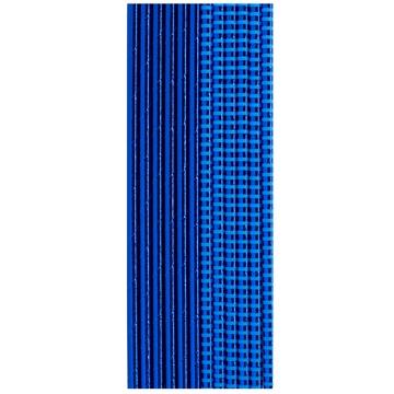 Трубочка для коктейля фольга синяя 12 штук