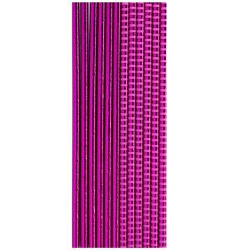 Трубочка для коктейля фольга ярко-розовая 12 штук