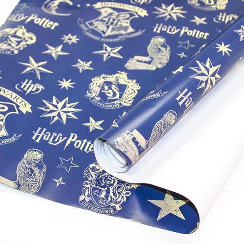 Упаковочная бумага 0,7 х 1 м Гарри Поттер Синий 2 штуки