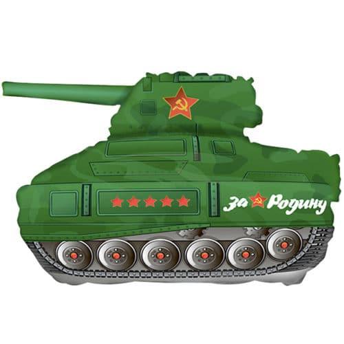 Шар 30 см Мини-фигура Танк Т-34 Зеленый