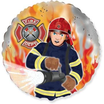 Шар 46 см Круг Пожарный