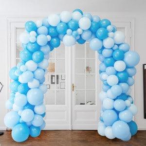 Арка Ассорти из воздушных шаров Голубые тона