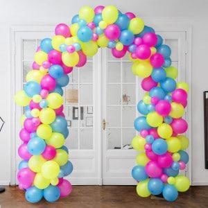 Арка Ассорти из воздушных шаров Неон