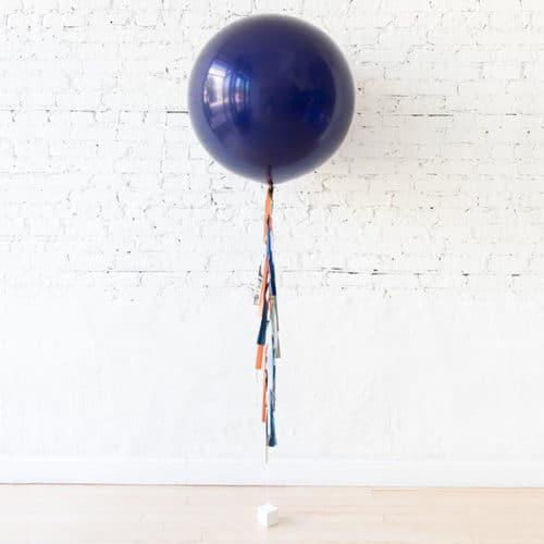 Большой шар Синий с гирляндой Тассел Космос