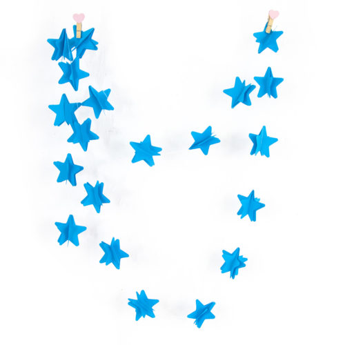 Гирлянда - подвеска Звезда Голубой 220 см