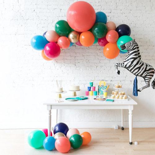 Комплект воздушных шаров Гирлянда Шары на пол и шар с тассел Зебра