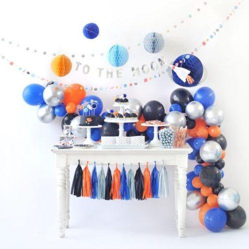 Комплект из воздушных шаров Гирлянда и гирлянда Тассел с шарами Соты