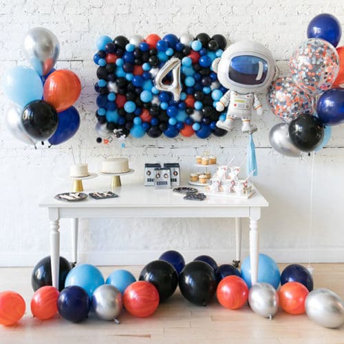 Комплект из воздушных шаров Панно Цифра 4 и Связки Шары на пол