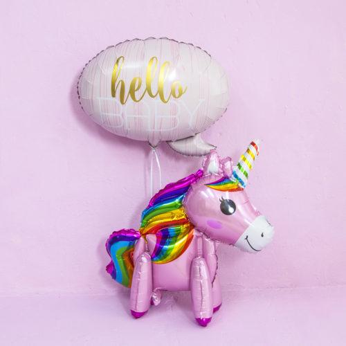 Комплект из шаров Пони и шар на рождение малышки Розовый