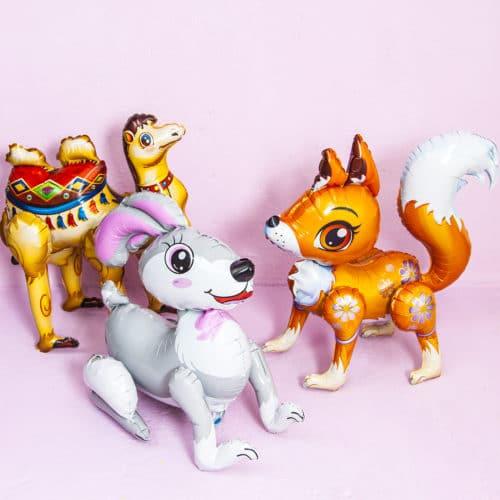 Комплект из 3 ходячих фигур Животные Лиса Заяц и Верблюд