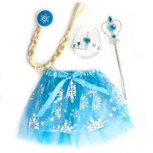 Набор ободок косичка юбочка волшебная палочка Снежная Принцесса