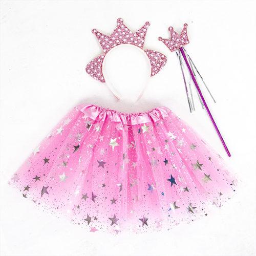 Набор ободок юбочка волшебная палочка Принцесса Звездочка Розовый