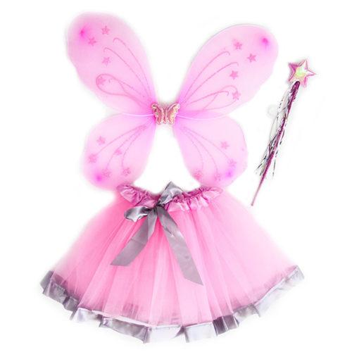 Набор ободок юбочка волшебная палочка Фея Бабочка Розовый