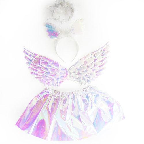 Набор ободок юбочка крылья Небесный единорог Белый