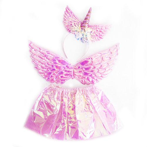 Набор ободок юбочка крылья Небесный единорог Розовый