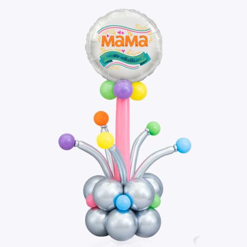 Стойка из воздушных шаров для Мамы
