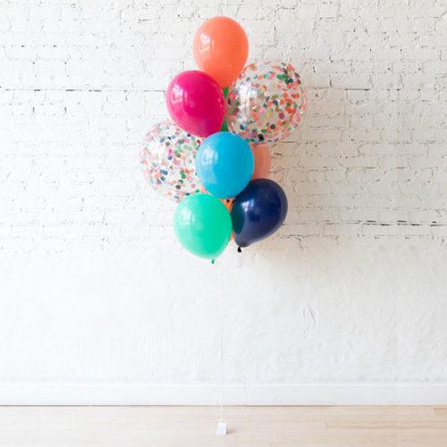 Фонтан из 10 воздушных шаров Звериная вечеринка