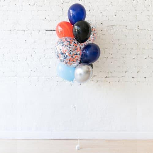 Фонтан из 10 воздушных шаров с Космический микс