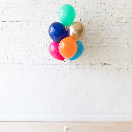 Фонтан из 7 воздушных шаров Звериная вечеринка