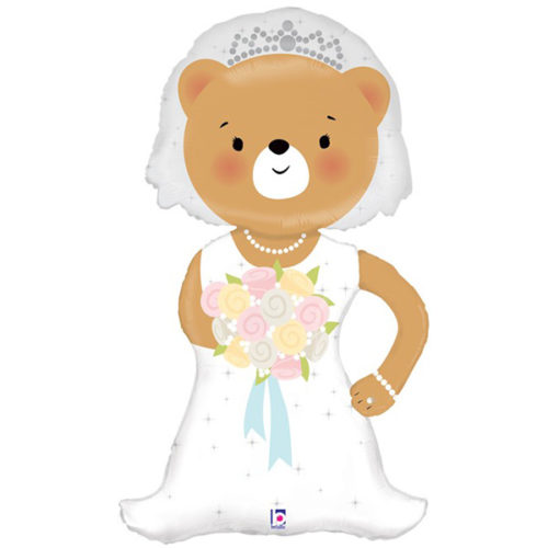 Шар 109 см Фигура Медвежонок Невеста