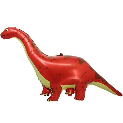 Шар 130 см Фигура Динозавр Диплодок Красный