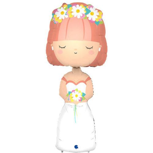 Шар 132 см Фигура Красавица Невеста