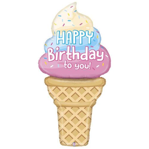 Шар 152 см Фигура Мороженое на День Рождения