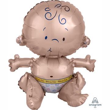 Шар 38 см Фигура Малыш сидячий с воздухом